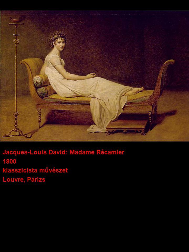 Jacques-Louis David: Madame Récamier 1800 klasszicista művészet Louvre, Párizs