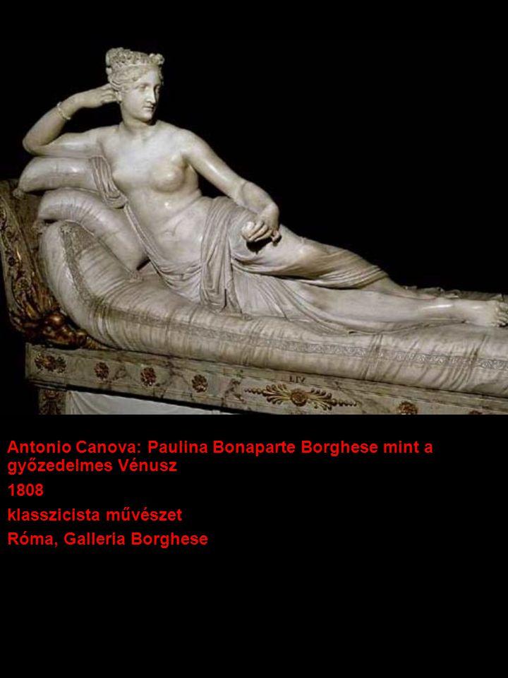 Antonio Canova: Paulina Bonaparte Borghese mint a győzedelmes Vénusz 1808 klasszicista művészet Róma, Galleria Borghese