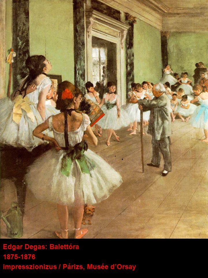 Edgar Degas: Balettóra 1875-1876 impresszionizus / Párizs, Musée d'Orsay