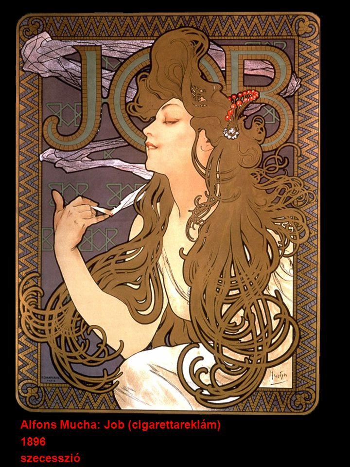 Alfons Mucha: Job (cigarettareklám) 1896 szecesszió