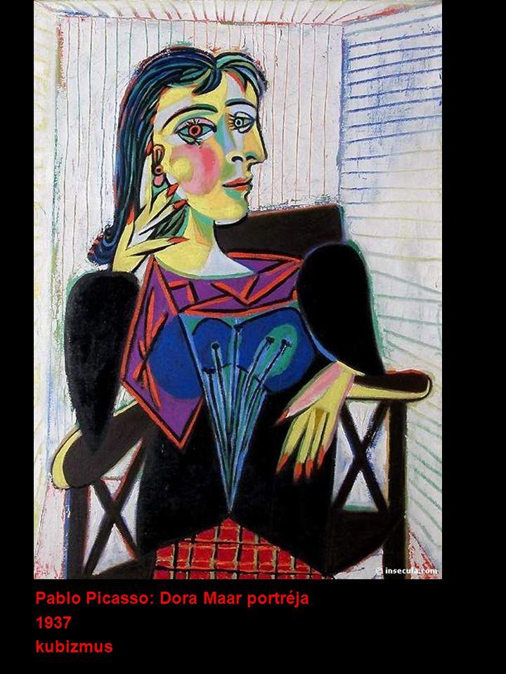 : Pablo Picasso: Dora Maar portréja 1937 kubizmus