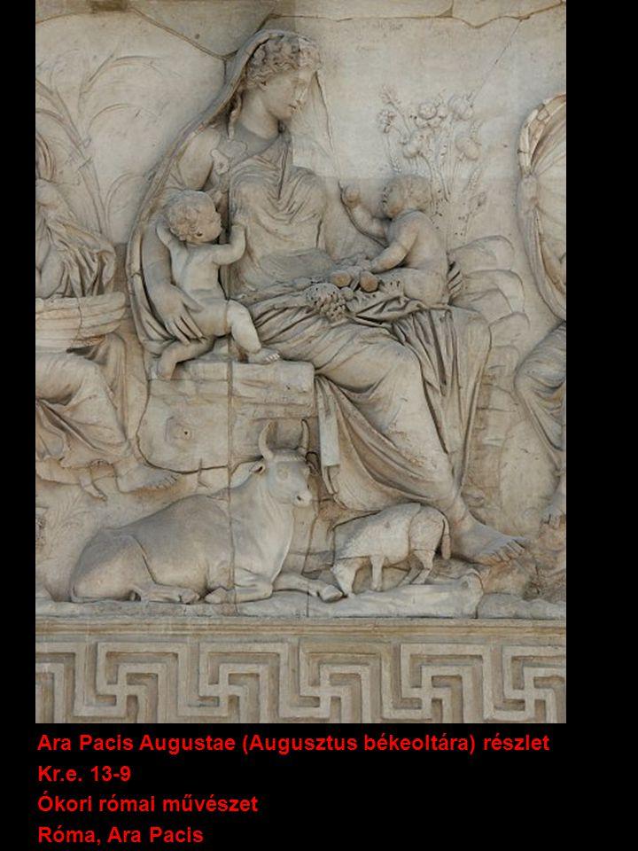 Theodóra császárné és kísérete 546-547 (6.sz.) Bizánci művészet Ravenna (Olaszország), San Vitale bazilika mozaik