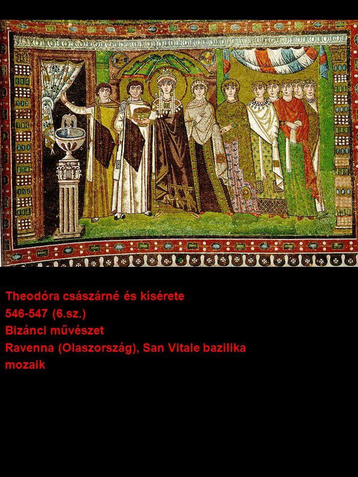 Theodóra császárné és kísérete (részlet)