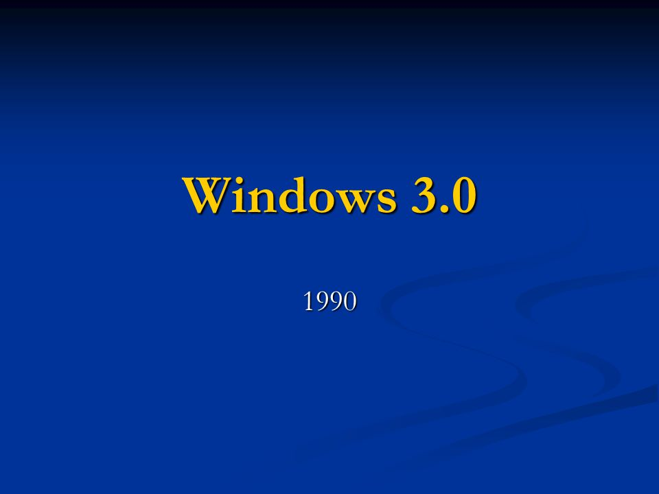 Windows 3.0 1990
