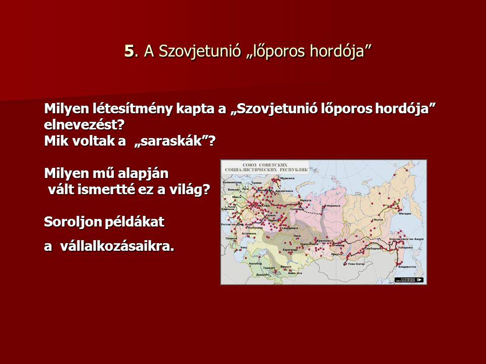 """6.Miről szól a """"Sahti-per . Ki volt Sztahanov."""
