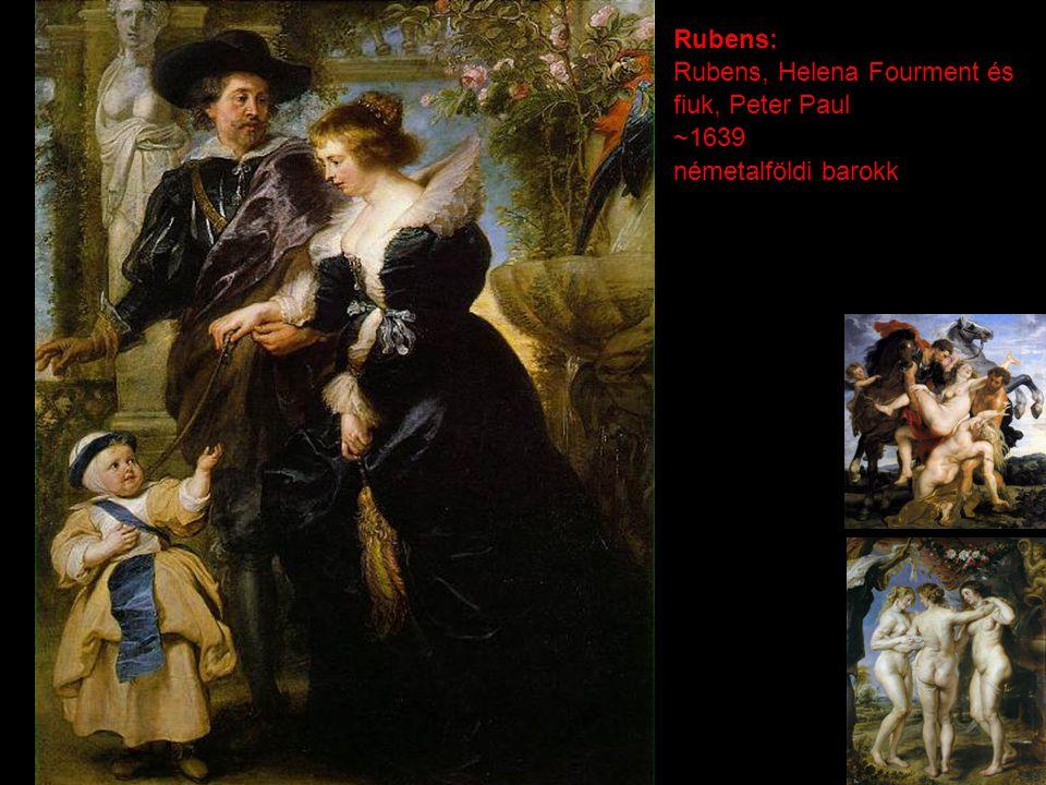 Rubens: Rubens, Helena Fourment és fiuk, Peter Paul ~1639 németalföldi barokk