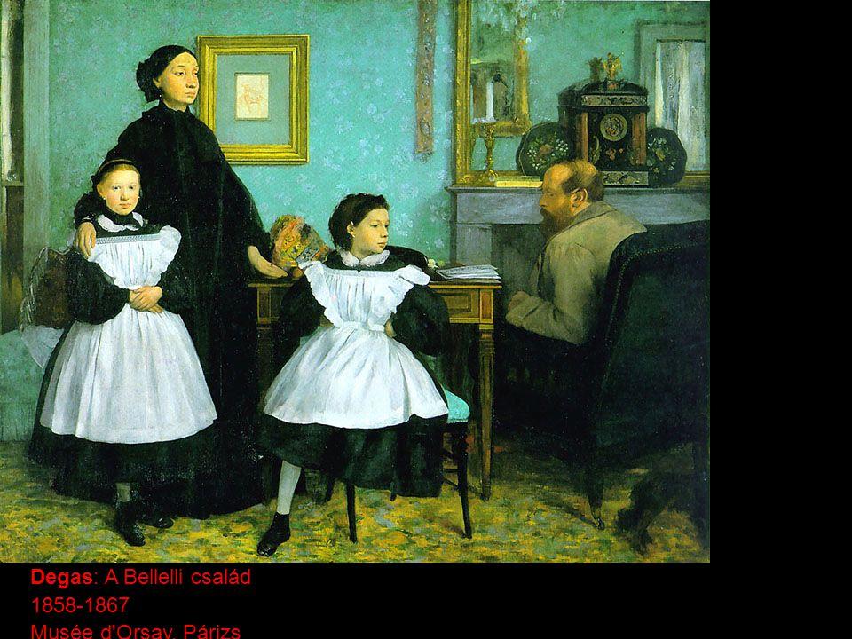 Degas: A Bellelli család 1858-1867 Musée d'Orsay, Párizs