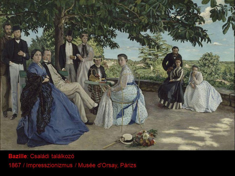 Bazille: Családi találkozó 1867 / Impresszionizmus / Musée d'Orsay, Párizs
