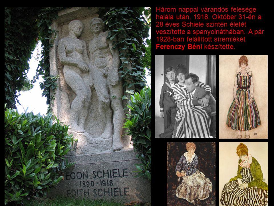 Három nappal várandós felesége halála után, 1918. Október 31-én a 28 éves Schiele szintén életét veszítette a spanyolnáthában. A pár 1928-ban felállít