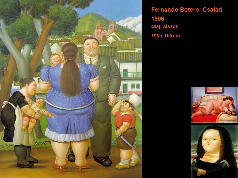 Fernando Botero: Család 1996 Olaj, vászon 195 x 155 cm