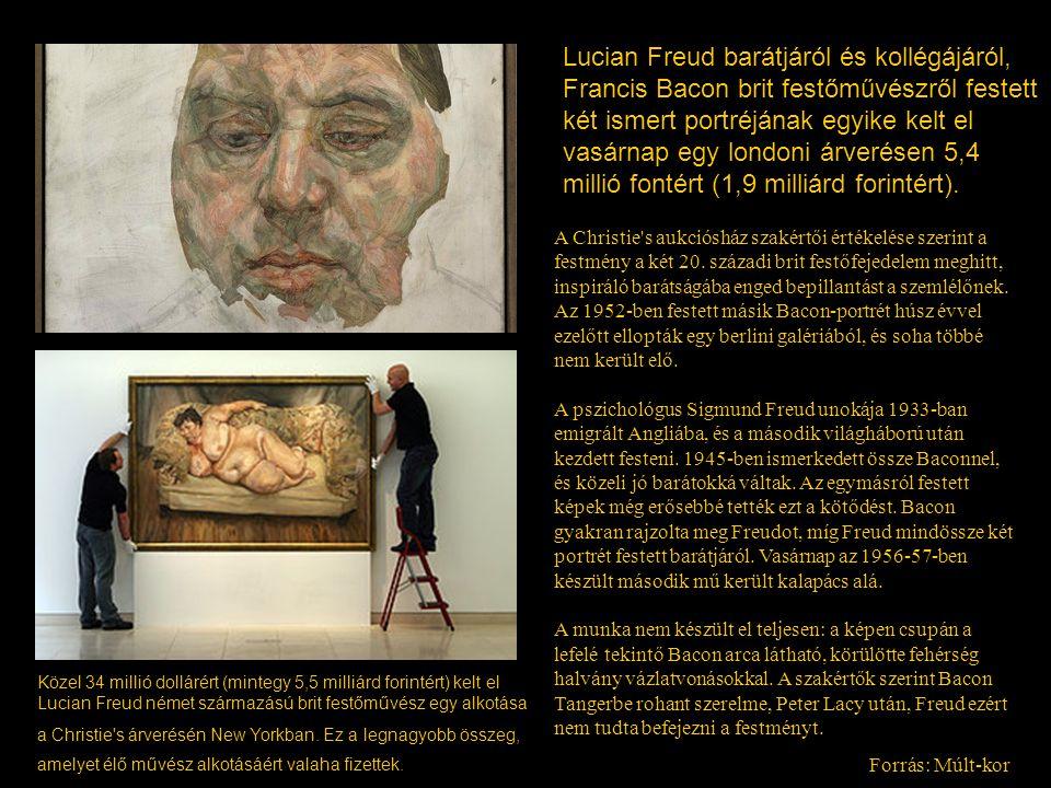A Christie's aukciósház szakértői értékelése szerint a festmény a két 20. századi brit festőfejedelem meghitt, inspiráló barátságába enged bepillantás