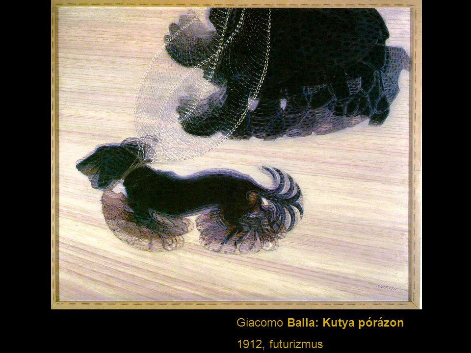 Giacomo Balla: Kutya pórázon 1912, futurizmus