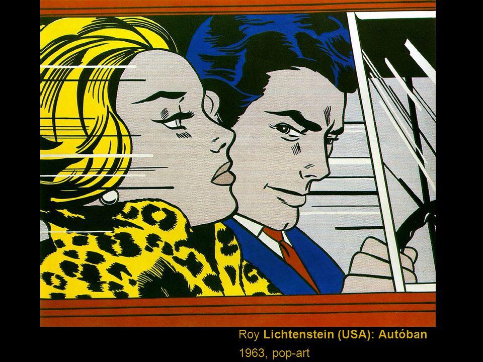 Roy Lichtenstein (USA): Autóban 1963, pop-art