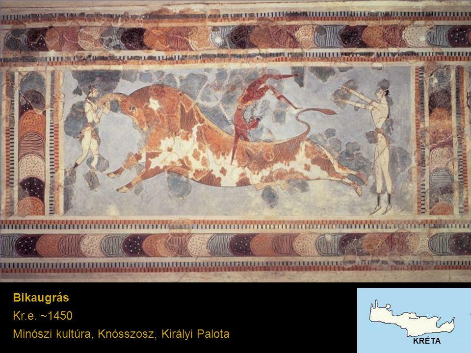 Bikaugrás Kr.e. ~1450 Minószi kultúra, Knósszosz, Királyi Palota KRÉTA