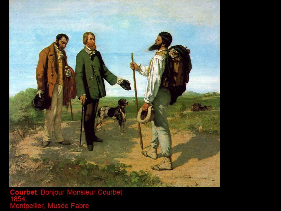 Courbet: Bonjour Monsieur Courbet 1854. Montpellier, Musée Fabre