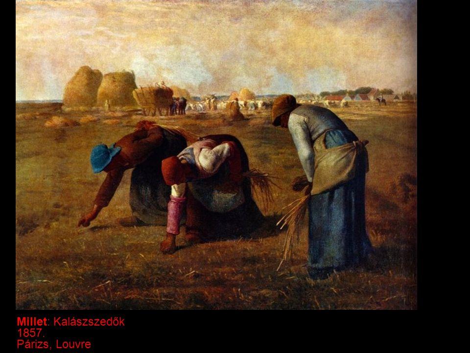 Millet: Kalászszedők 1857. Párizs, Louvre