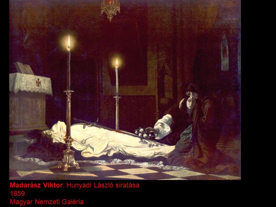 Madarász Viktor: Hunyadi László siratása 1859. Magyar Nemzeti Galéria