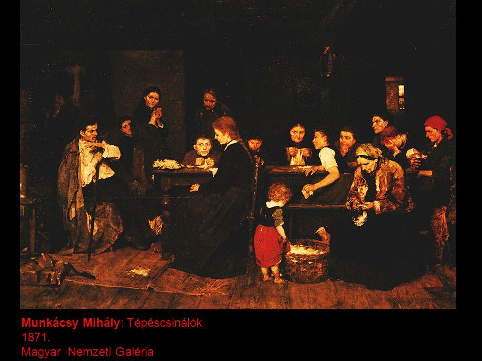 Munkácsy Mihály: Tépéscsinálók 1871. Magyar Nemzeti Galéria