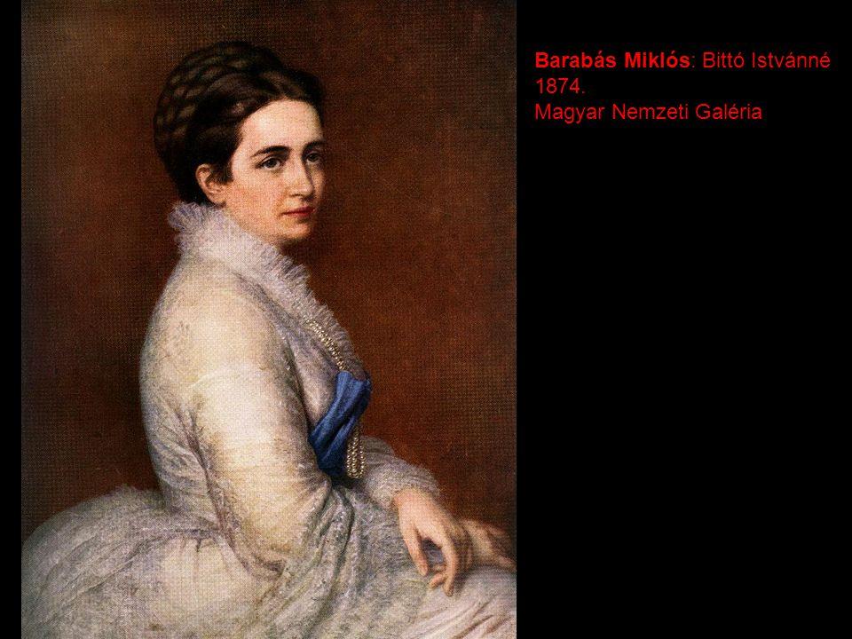 Barabás Miklós: Bittó Istvánné 1874. Magyar Nemzeti Galéria