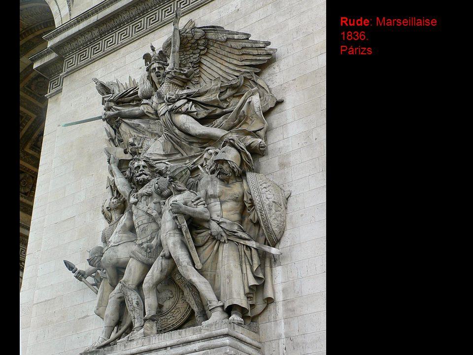 Rude: Marseillaise 1836. Párizs