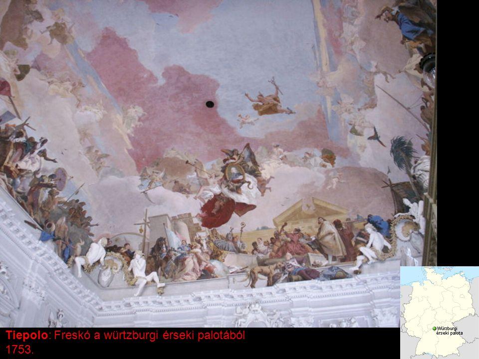 Tiepolo: Freskó a würtzburgi érseki palotából 1753.