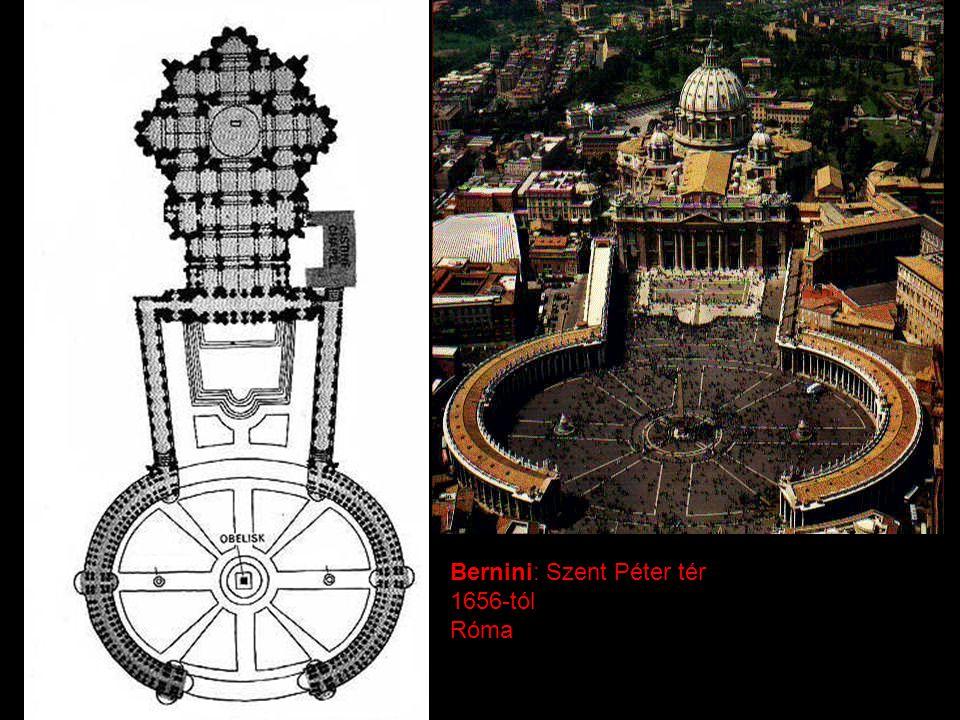 Bernini: Szent Péter tér 1656-tól Róma