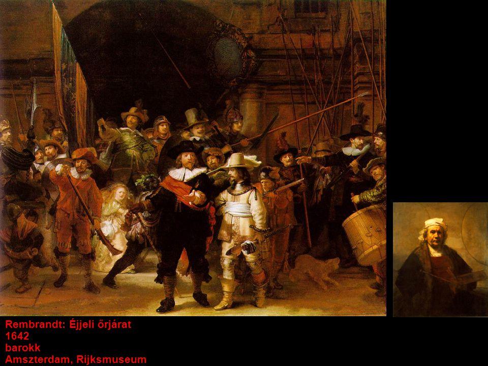 Rembrandt: Éjjeli őrjárat 1642 barokk Amszterdam, Rijksmuseum