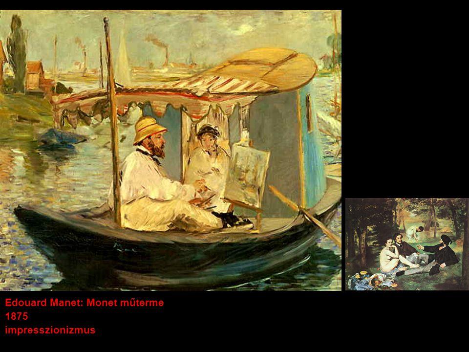 Edouard Manet: Monet műterme 1875 impresszionizmus