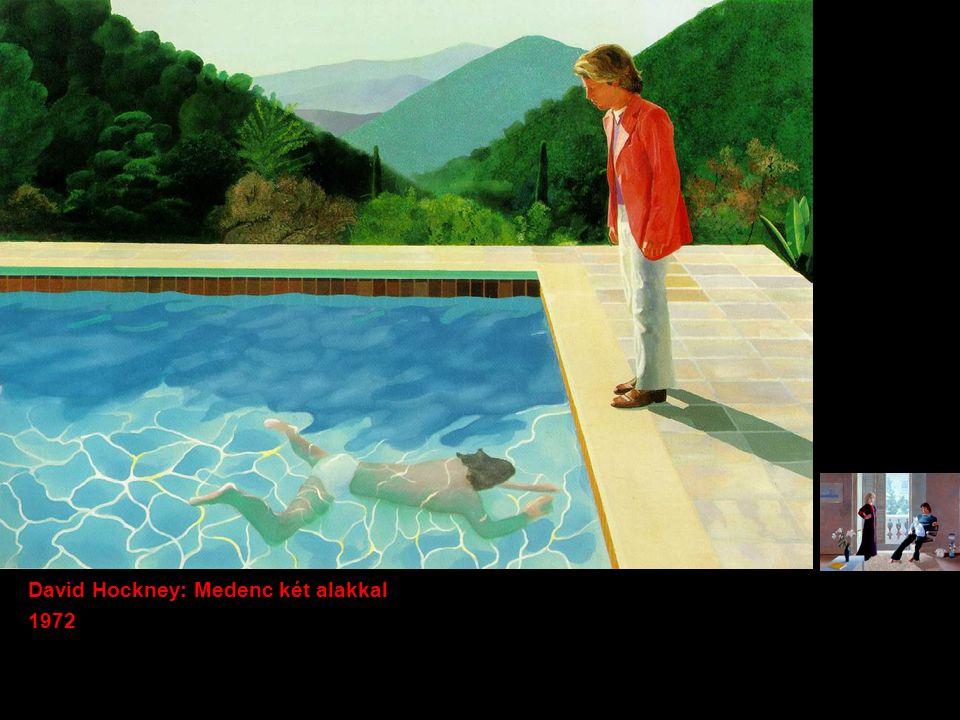 David Hockney: Medenc két alakkal 1972