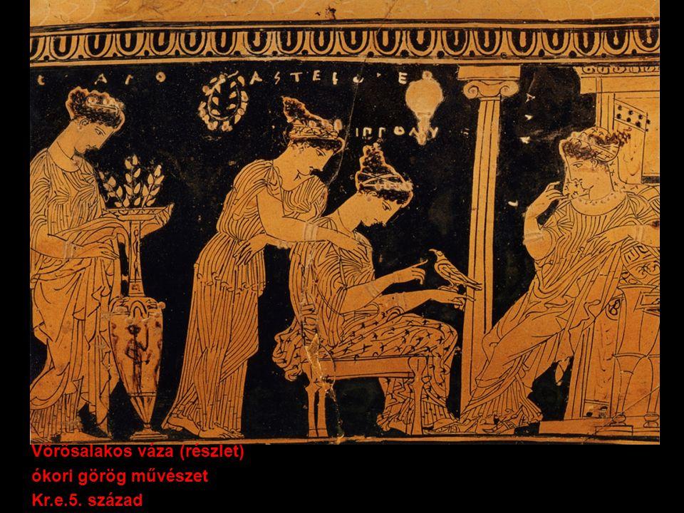 Vörösalakos váza (részlet) ókori görög művészet Kr.e.5. század