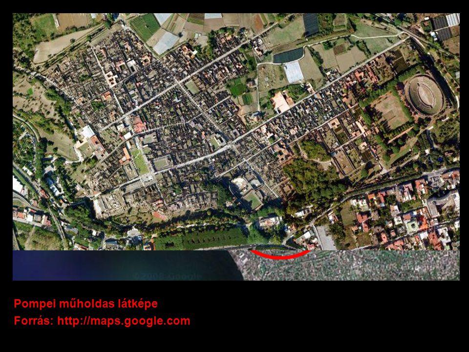 Pompei műholdas látképe Forrás: http://maps.google.com