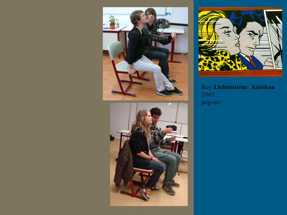 Roy Lichtenstein: Autóban 1963 pop-art