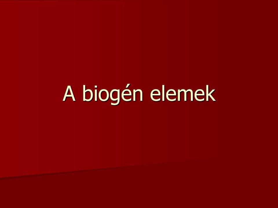 A biogén elemek