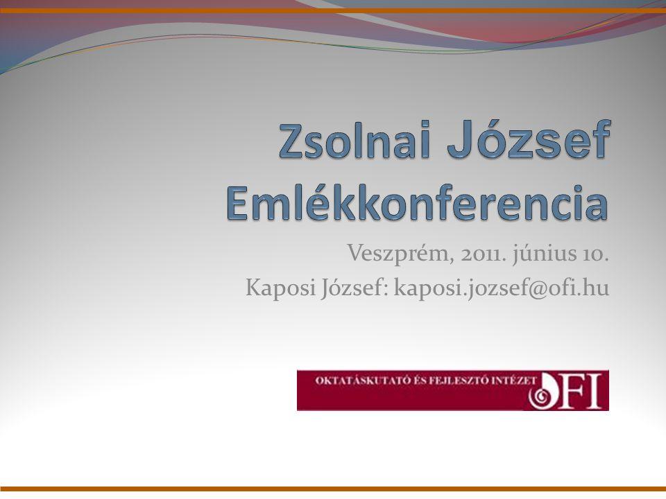 Zsolnai József és az OKI Zsolnai József 1990-1994 között az Országos Közoktatási Intézet alapító főigazgatója volt.