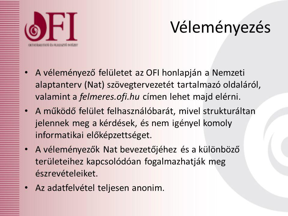 A véleményező felületet az OFI honlapján a Nemzeti alaptanterv (Nat) szövegtervezetét tartalmazó oldaláról, valamint a felmeres.ofi.hu címen lehet majd elérni.