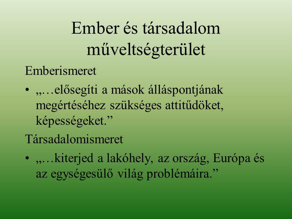 Trianon társadalmi, gazdasági, etnikai (bel-és külpolitikai) következményei A klebersbergi kultúrpolitika A területi revízió lépései A magyarság helyzete a szomszédos országokban A közép-európai régió sajátos problémái, nemzeti, etnikai és vallási kisebbségek Az Európai Unió, együttműködés és eltérő érdekek A technikai civilizáció hatása a természeti környezetre Nemzetiségek a mai magyar társadalomban