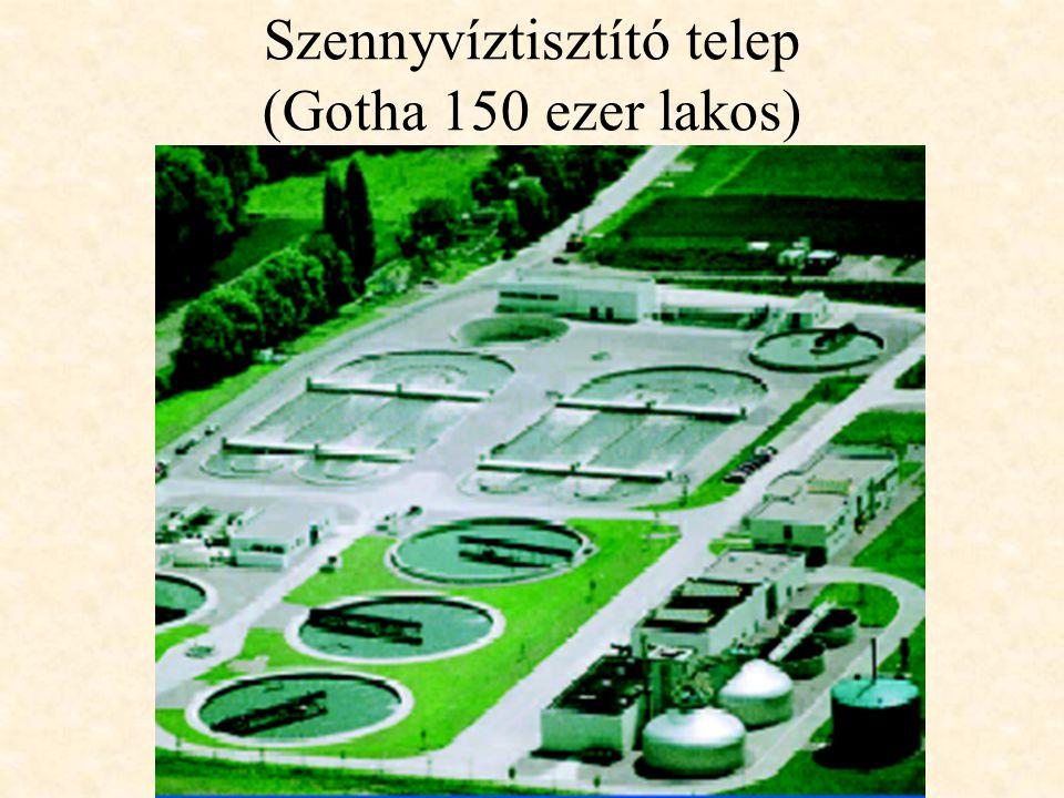 Szennyvíztisztító telep (Gotha 150 ezer lakos)