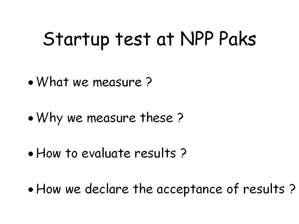 Startup test at NPP Paks