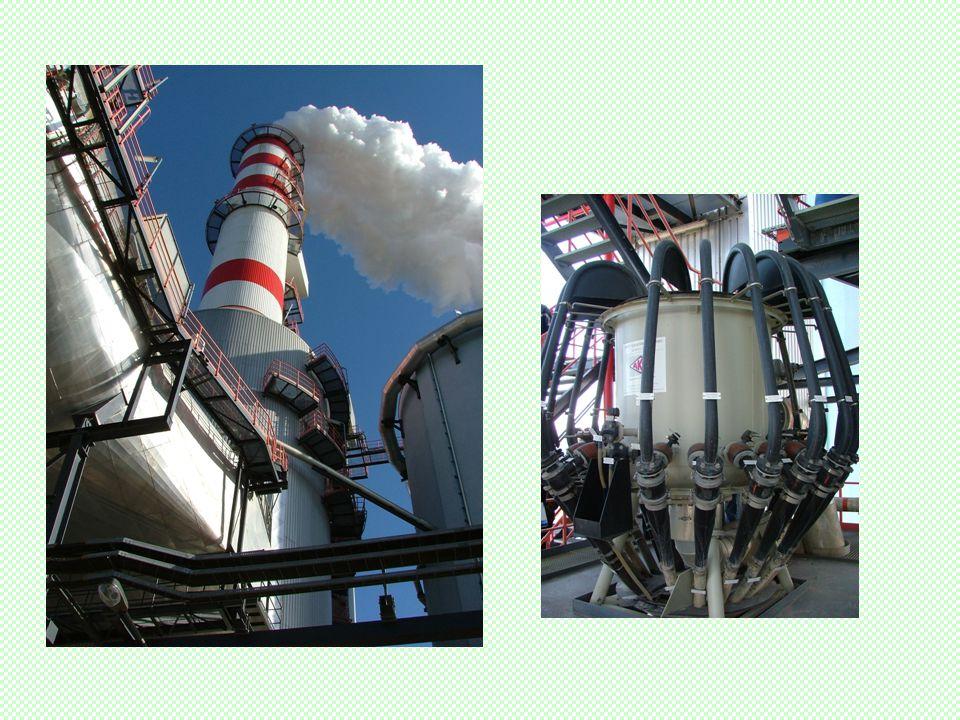 Mátrai erőmű permetező mosója Mosó átmérő: 16 m Mosó magasság: 40 m Alsó tartály átmérő: 20 m 6 db szivattyú és kompresszorok