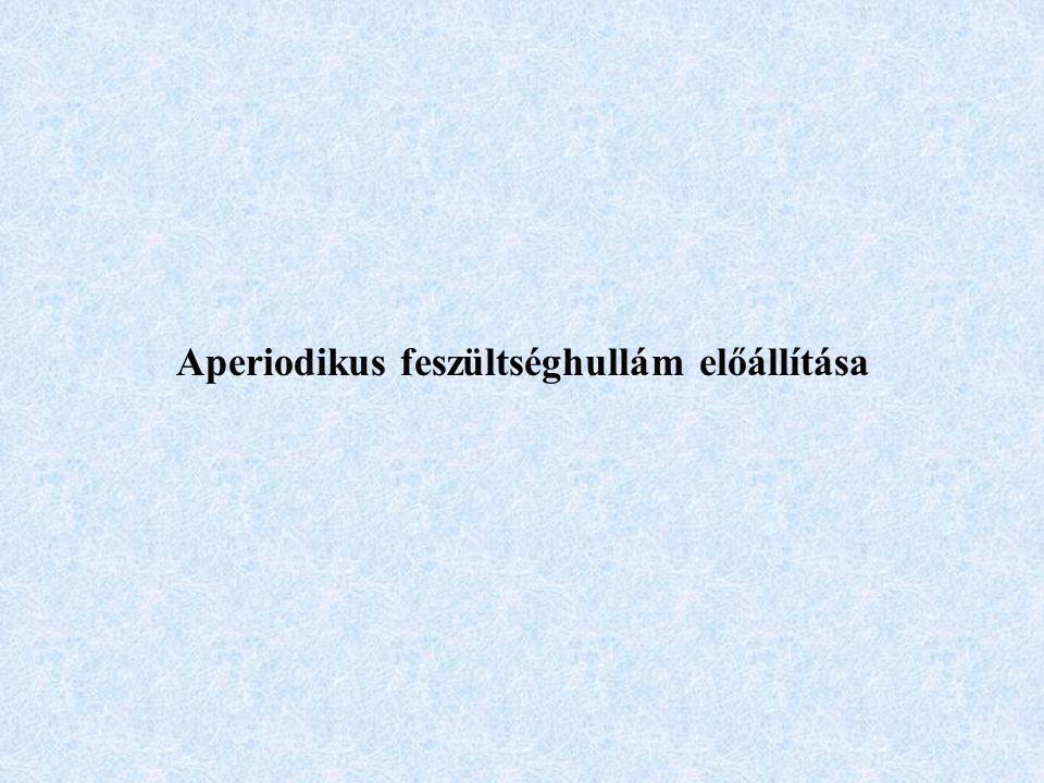 Aperiodikus feszültséghullám előállítása