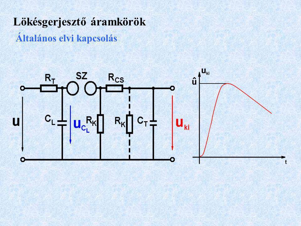 Lökésgerjesztő áramkörök Általános elvi kapcsolás