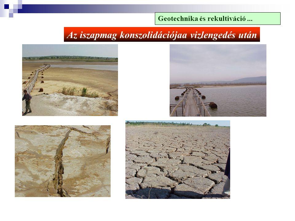Az iszapmag konszolidációjaa vizlengedés után Geotechnika és rekultiváció...