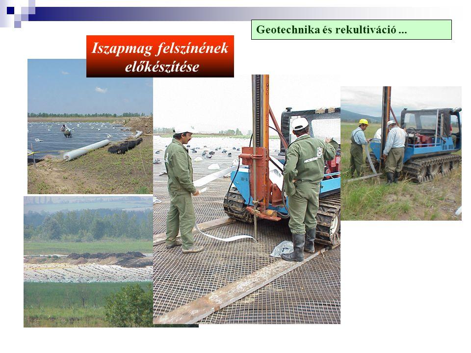Iszapmag felszínének előkészítése Geotechnika és rekultiváció...