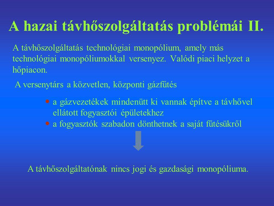 A hazai távhőszolgáltatás problémái II.