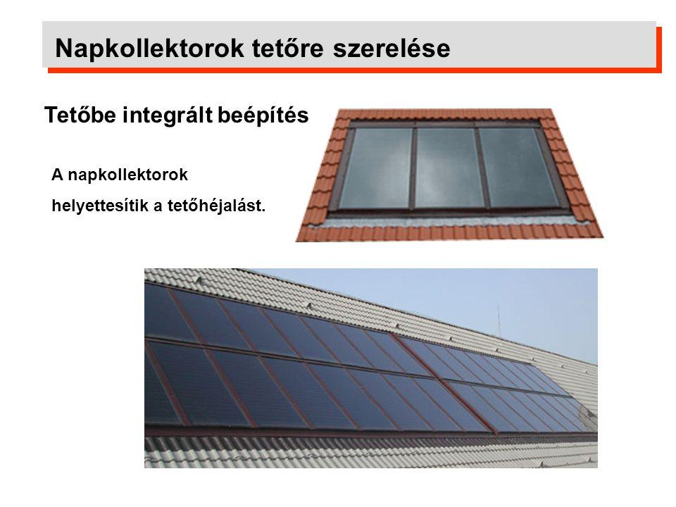Szerelőkeret napkollektorok lapostetőre szereléséhez Napkollektorok tetőre szerelése