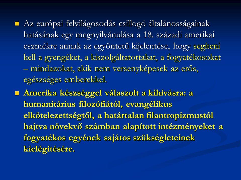 Az európai felvilágosodás csillogó általánosságainak hatásának egy megnyilvánulása a 18.