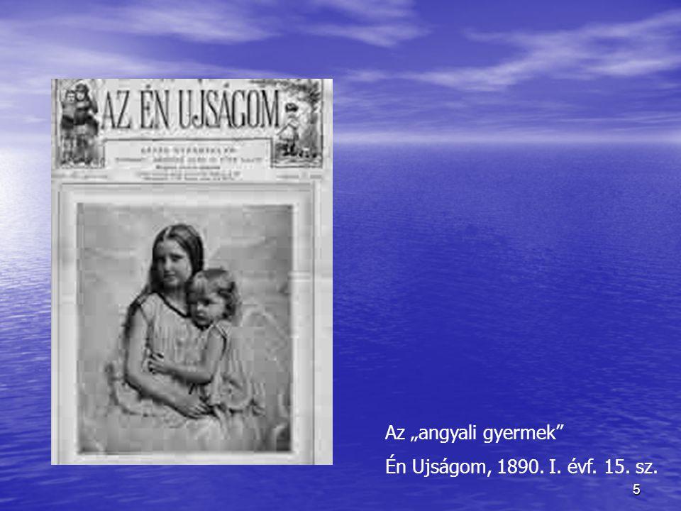 """5 Az """"angyali gyermek"""" Én Ujságom, 1890. I. évf. 15. sz."""