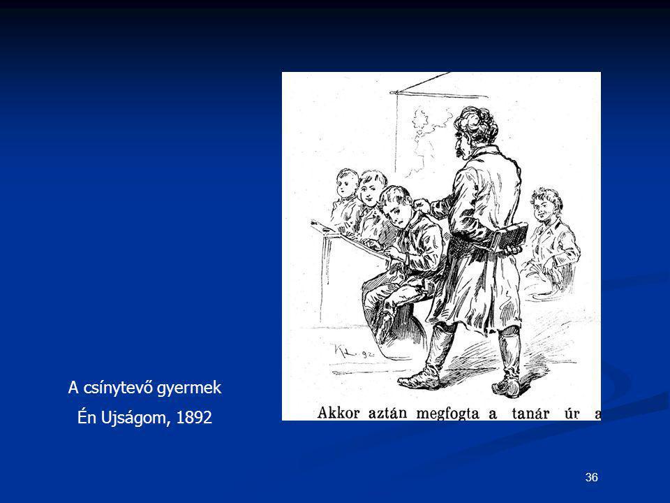 36 A csínytevő gyermek Én Ujságom, 1892