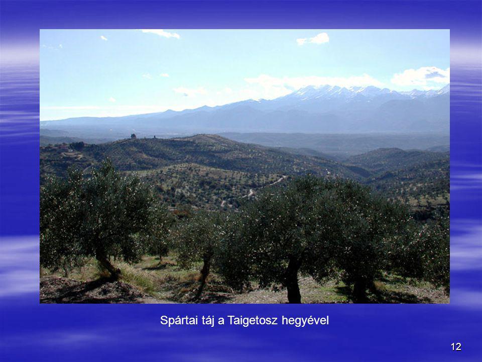 12 Spártai táj a Taigetosz hegyével