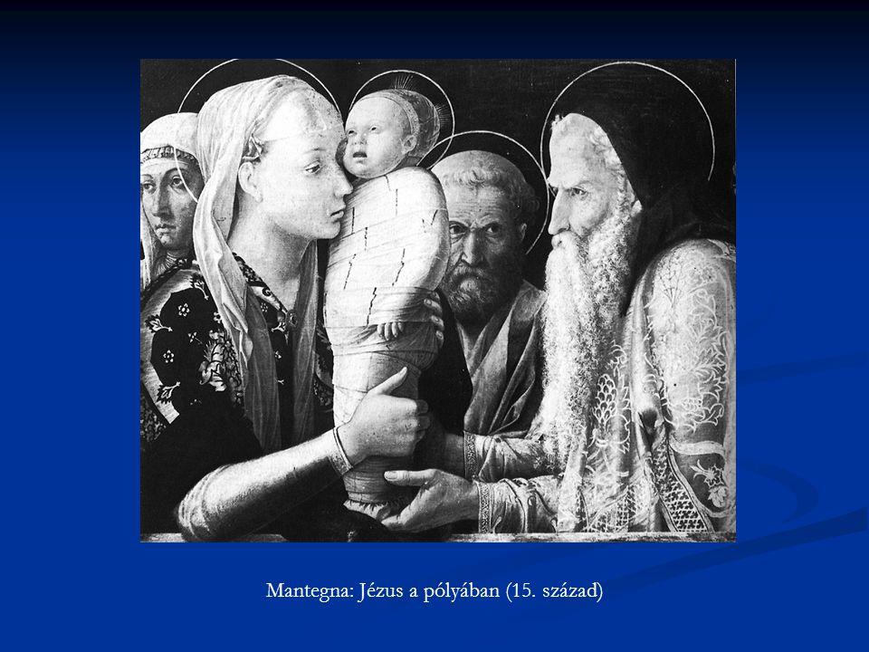 Mantegna: Jézus a pólyában (15. század)